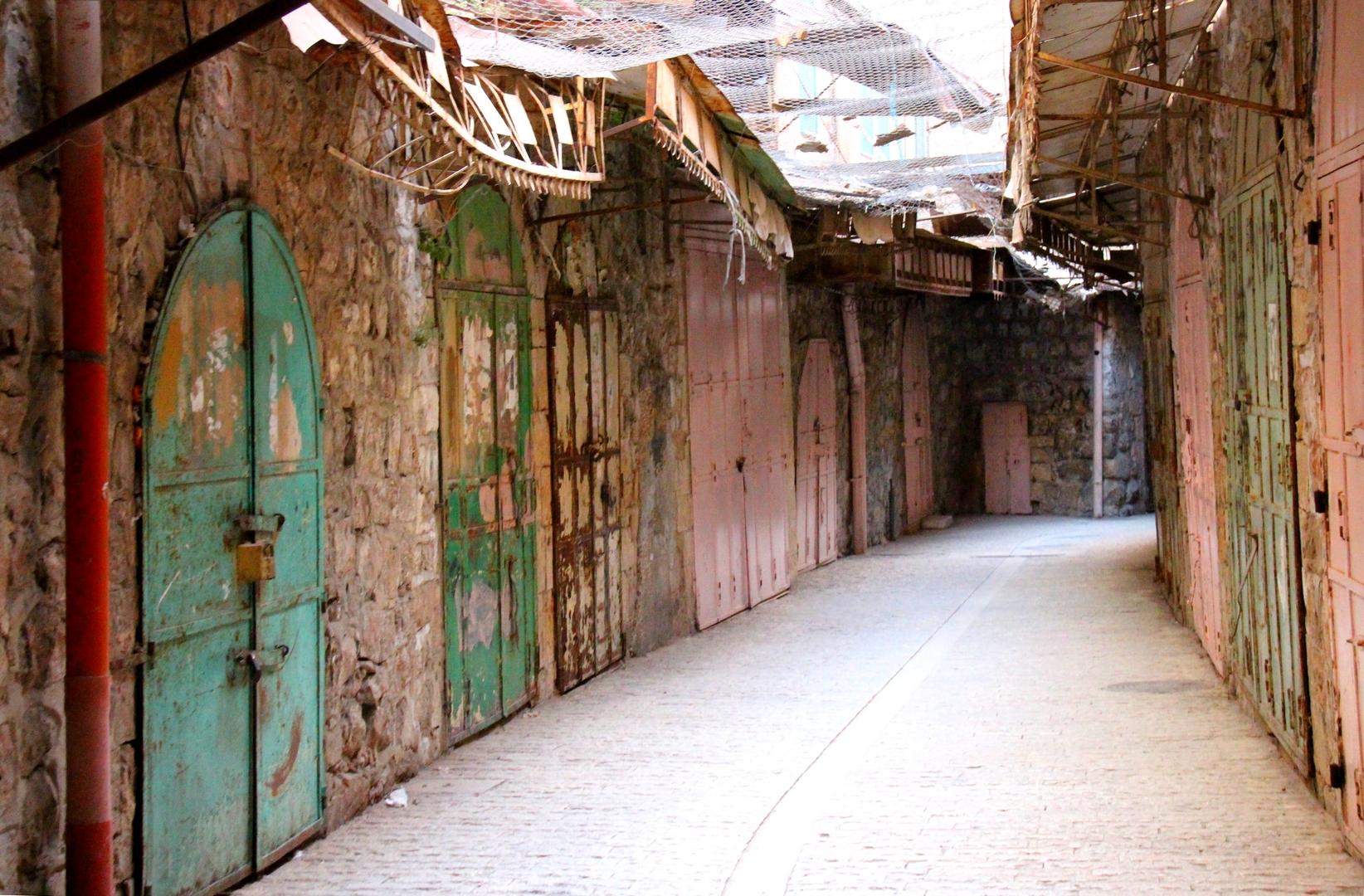 Israel Palestine - Les rues désertes de la ville fantôme de Hebron en Cisjordanie