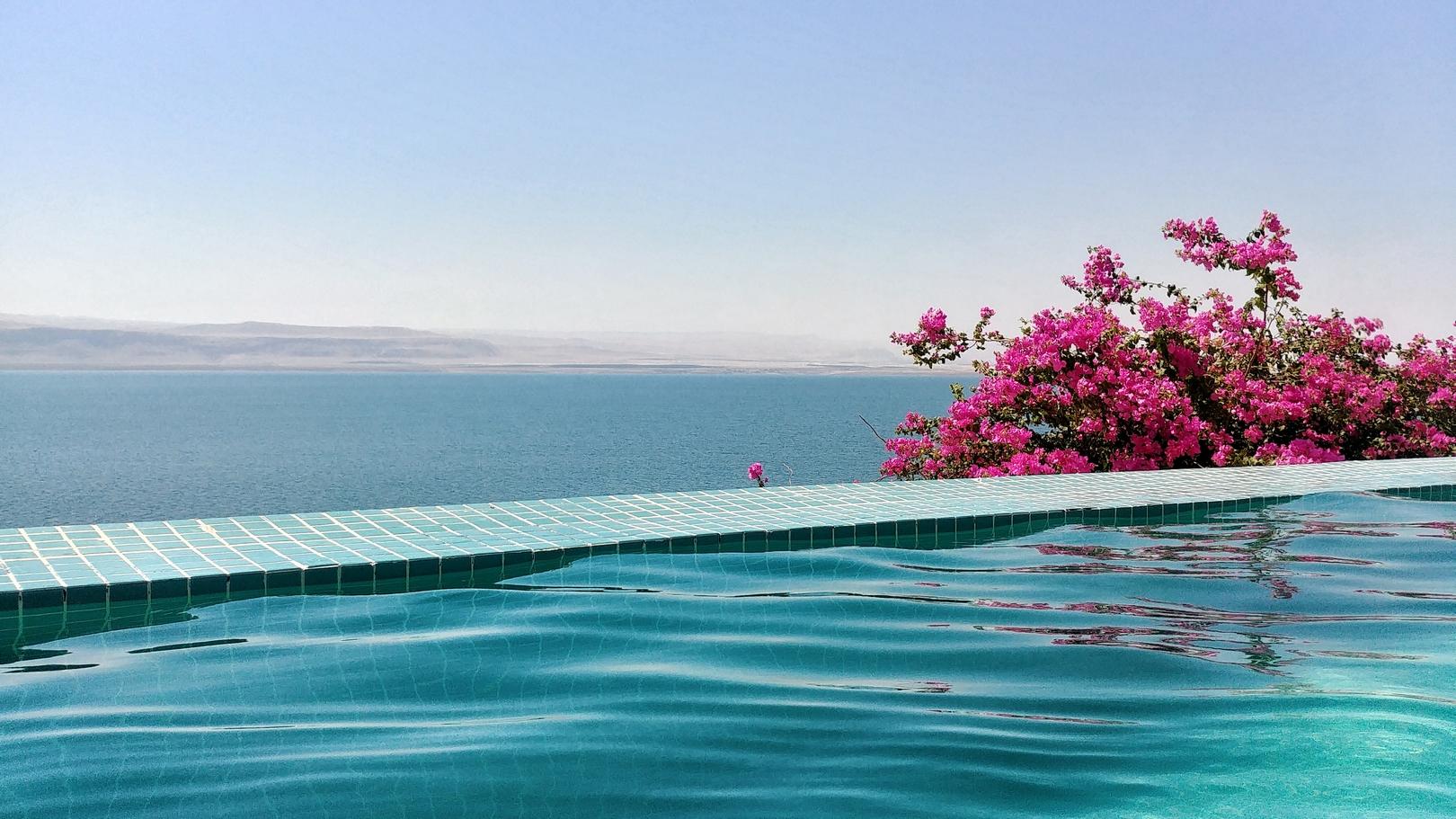 Jordanie - Baignade dans la Mer morte