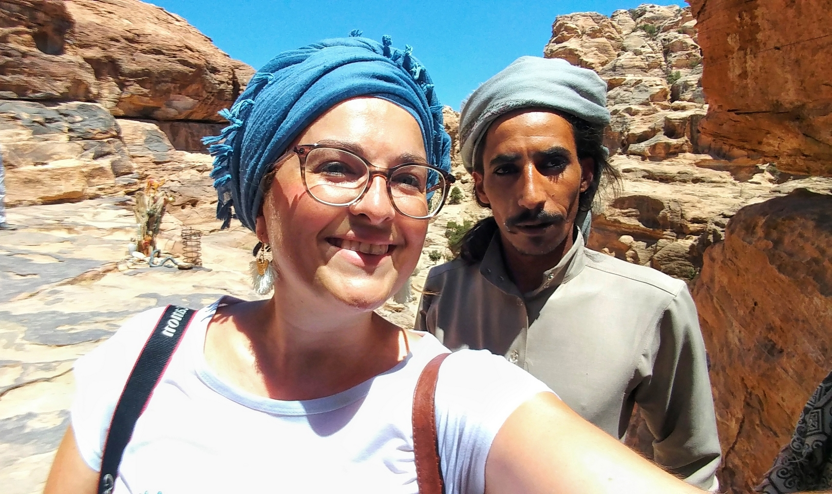 Jordanie - Rencontre avec un bédouin à Little Petra