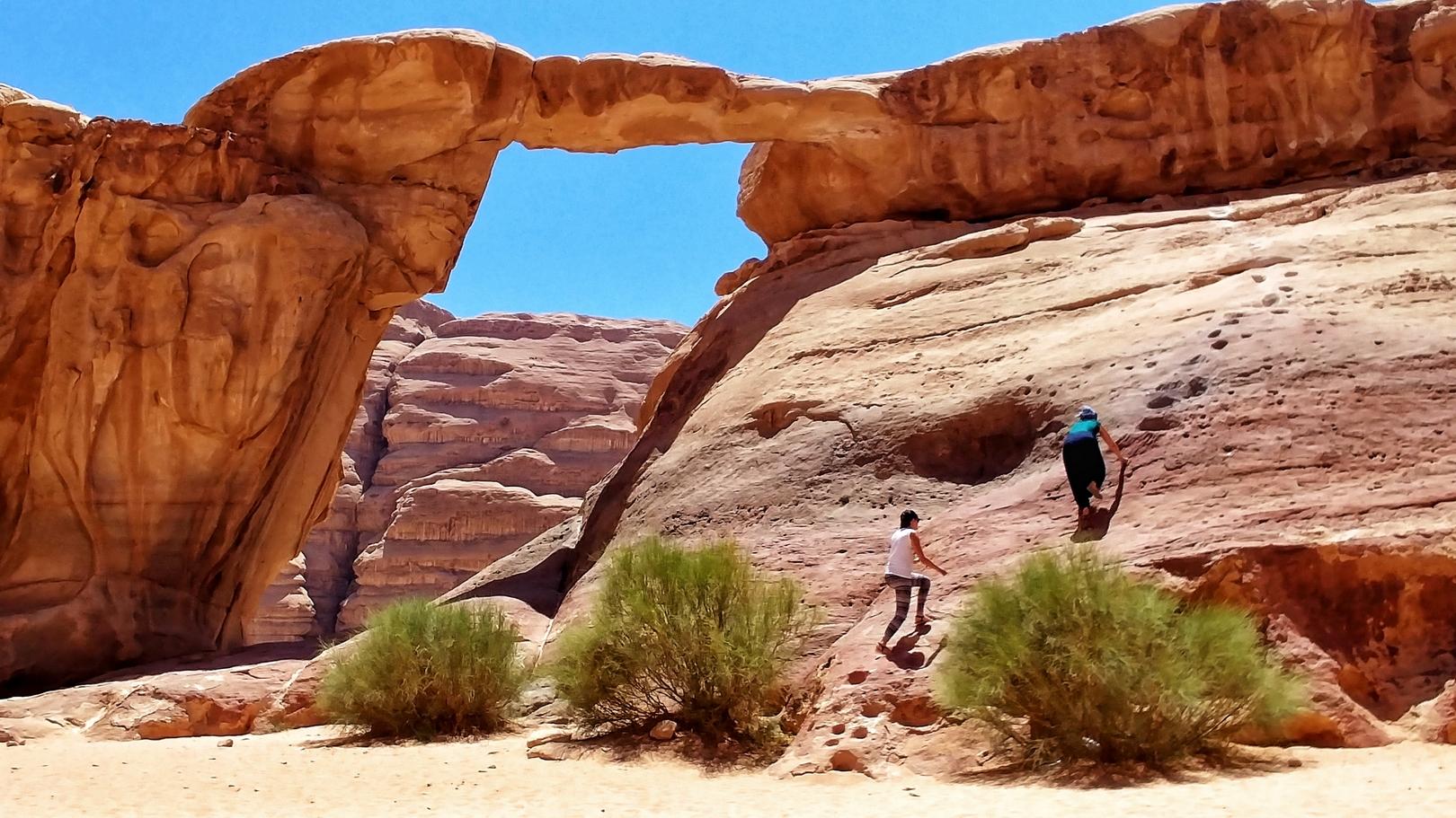 Jordanie - Arche dans le désert de Wadi Rum