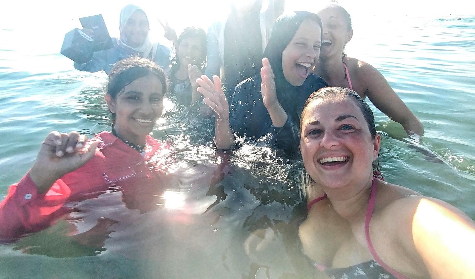 Jordanie - Après-midi avec les enfants sur la plage publique d'Aqaba