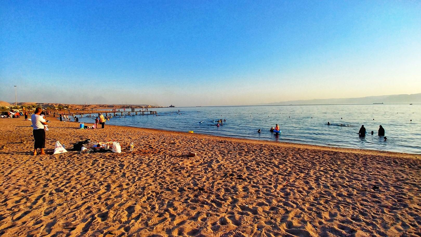 Jordanie - Après-midi sur la plage publique d'Aqaba