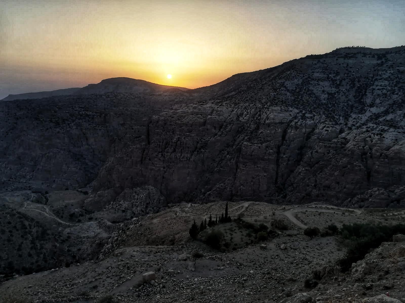 Jordanie - Coucher de soleil sur la vallée de Dana