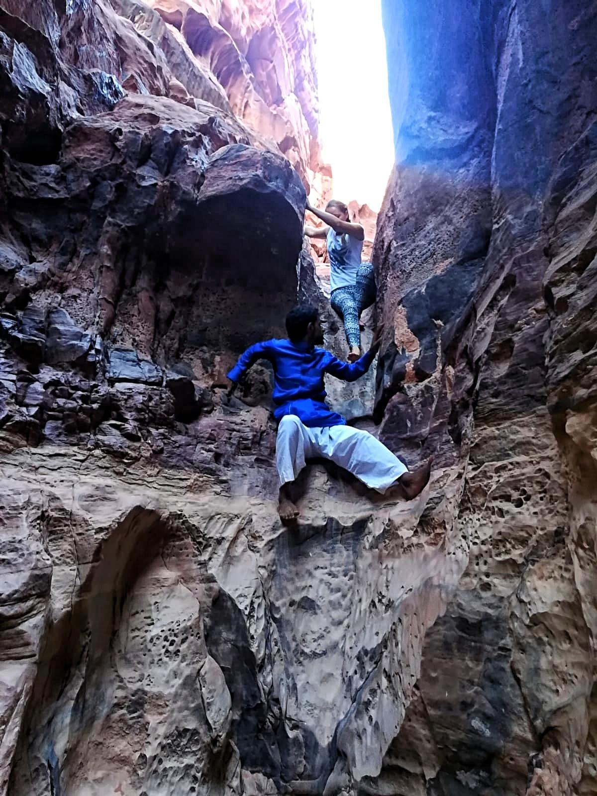 Jordanie - Canyon dans le désert de Wadi Rum