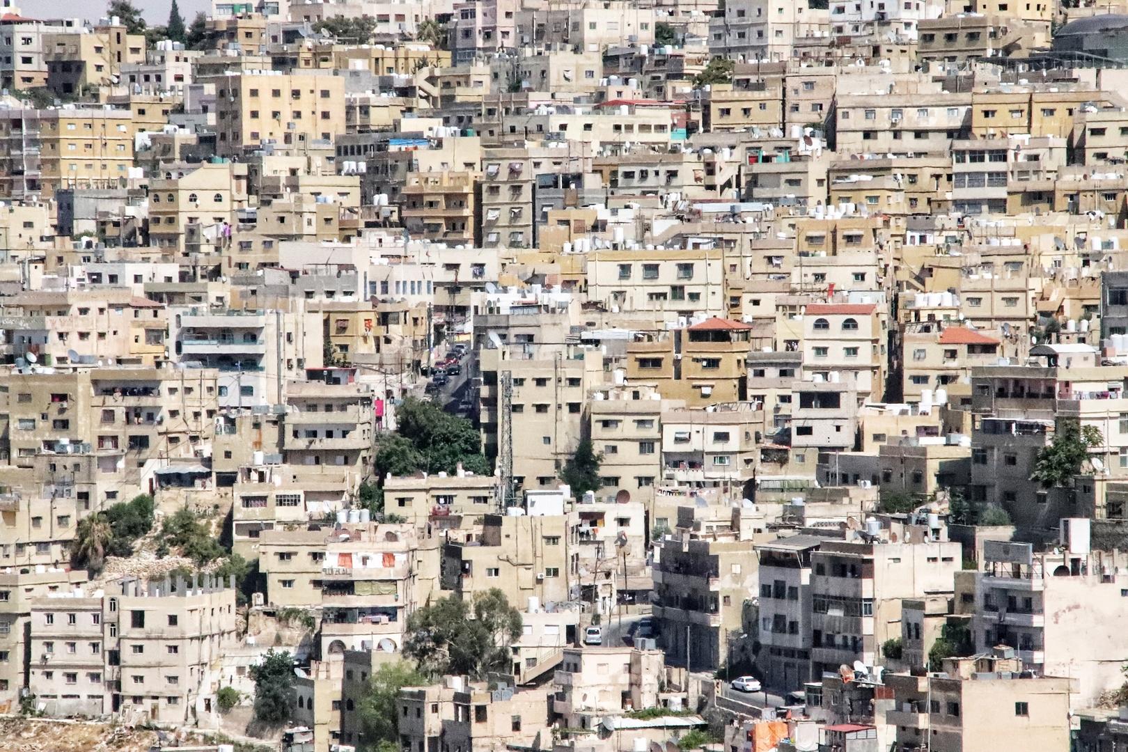 Jordanie - Vue sur Amman, capitale graphique