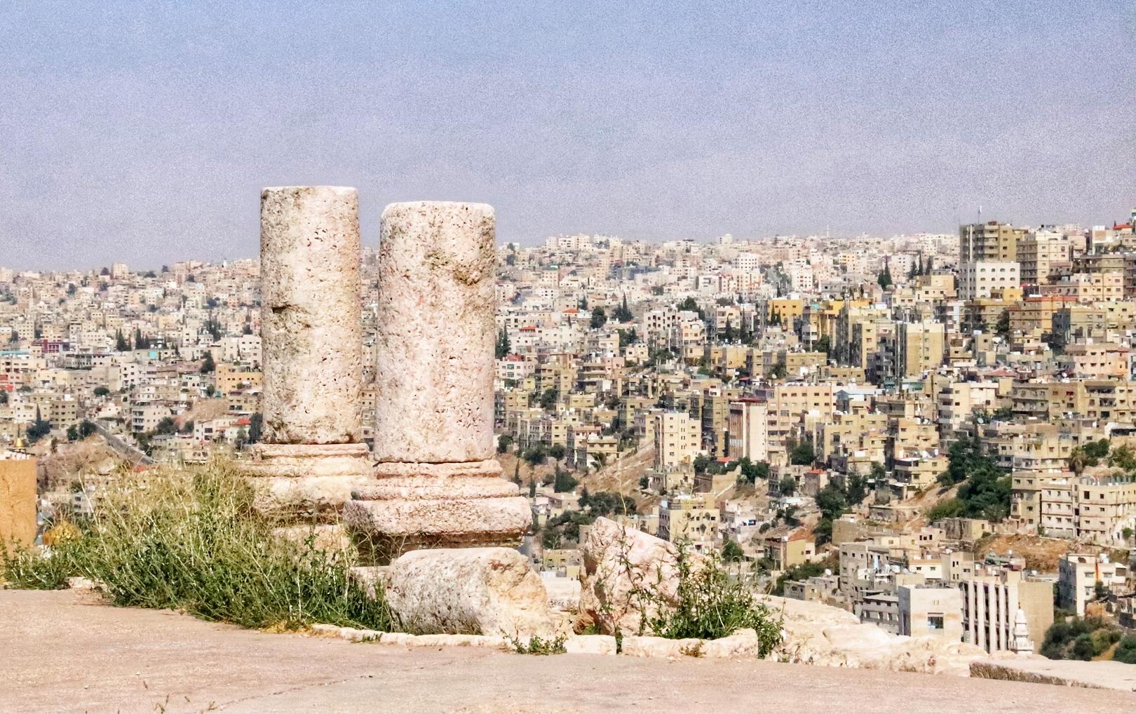 Jordanie - Amman du haut de la citadelle (Jabal al-Qal'a)