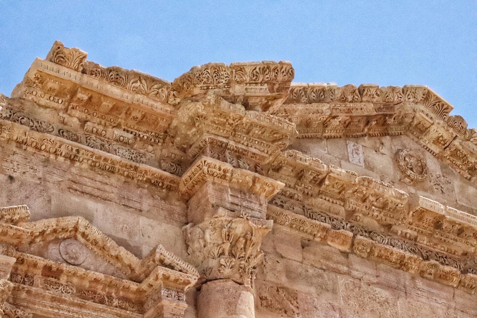Jordanie - Détail du nymphée sur le site romain de Jerash