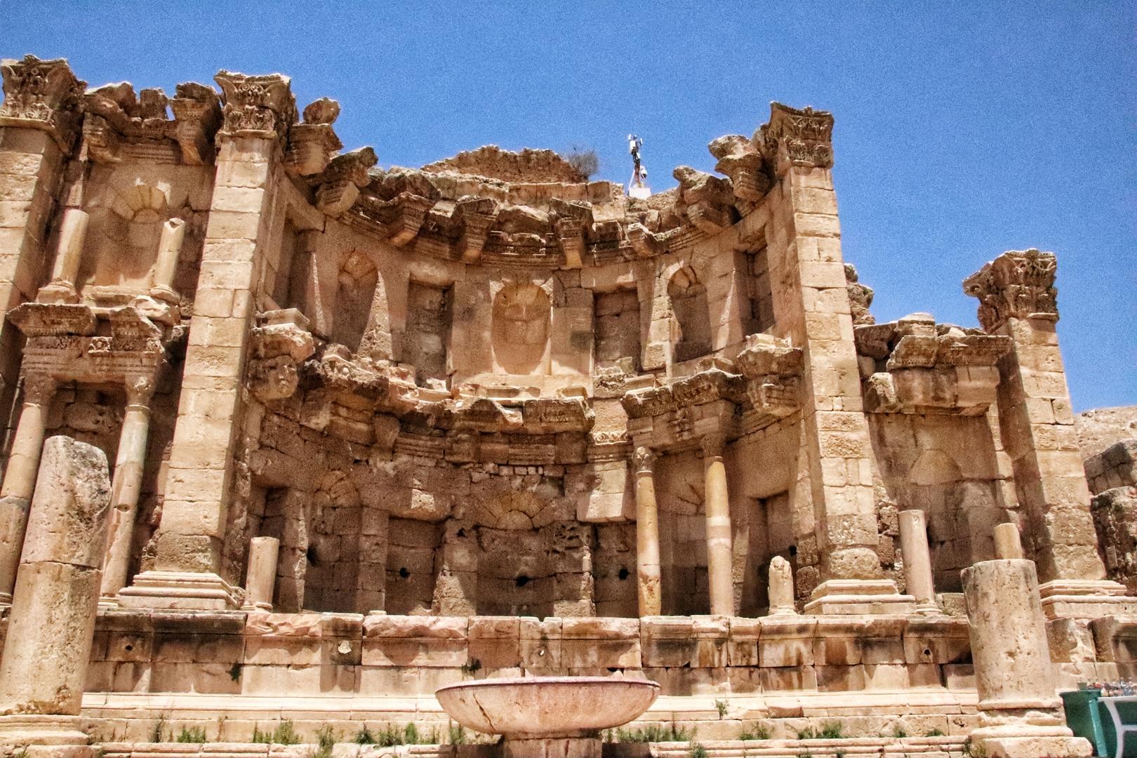 Jordanie - Le nymphée sur le site romain de Jerash