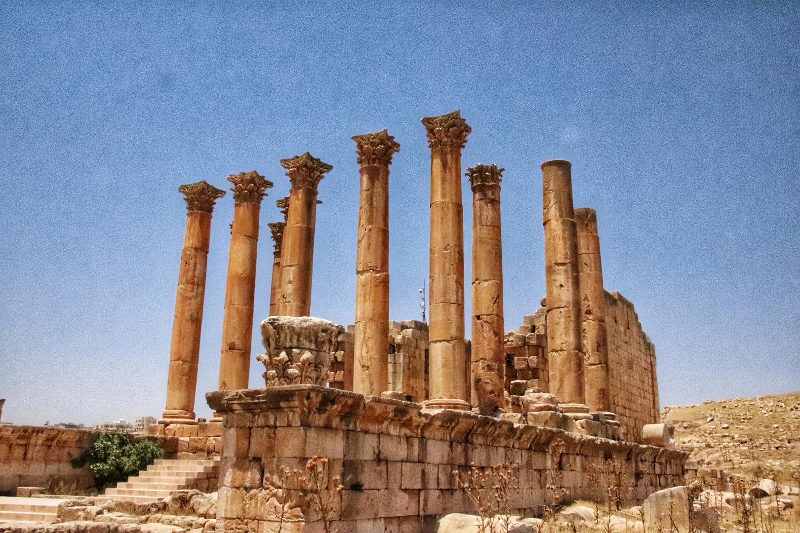 Jordanie - Temple d'Artemis sur le site romain de Jerash