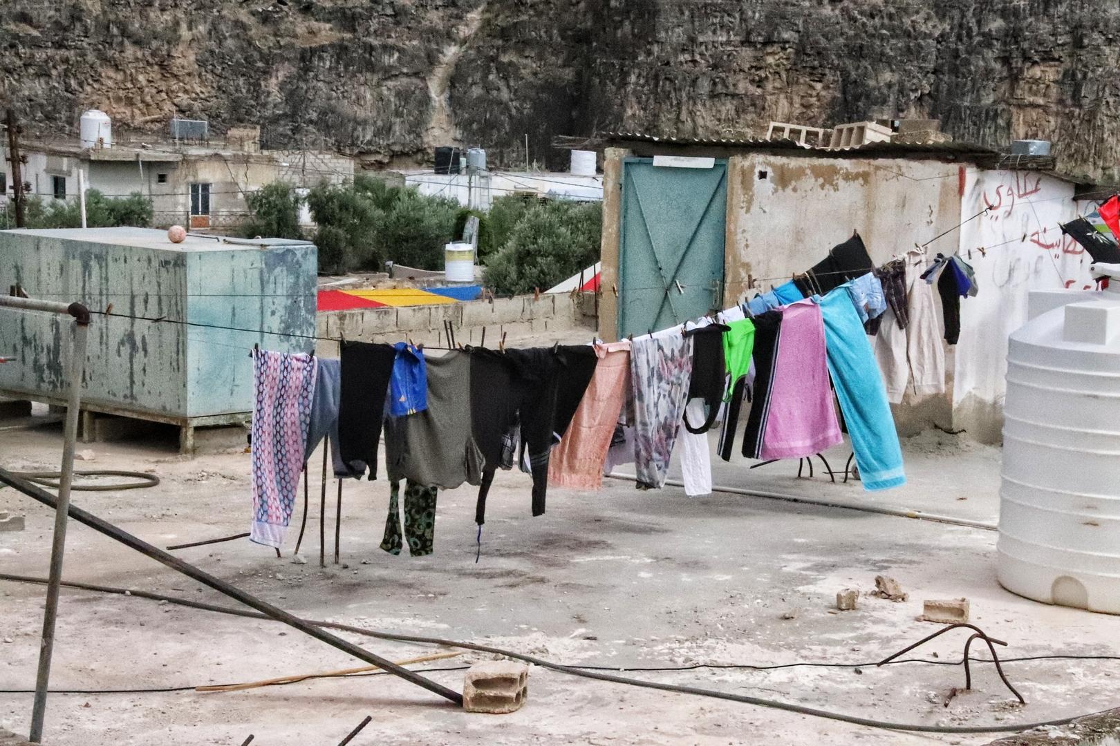 Jordanie - Du linge sèche sur le toit