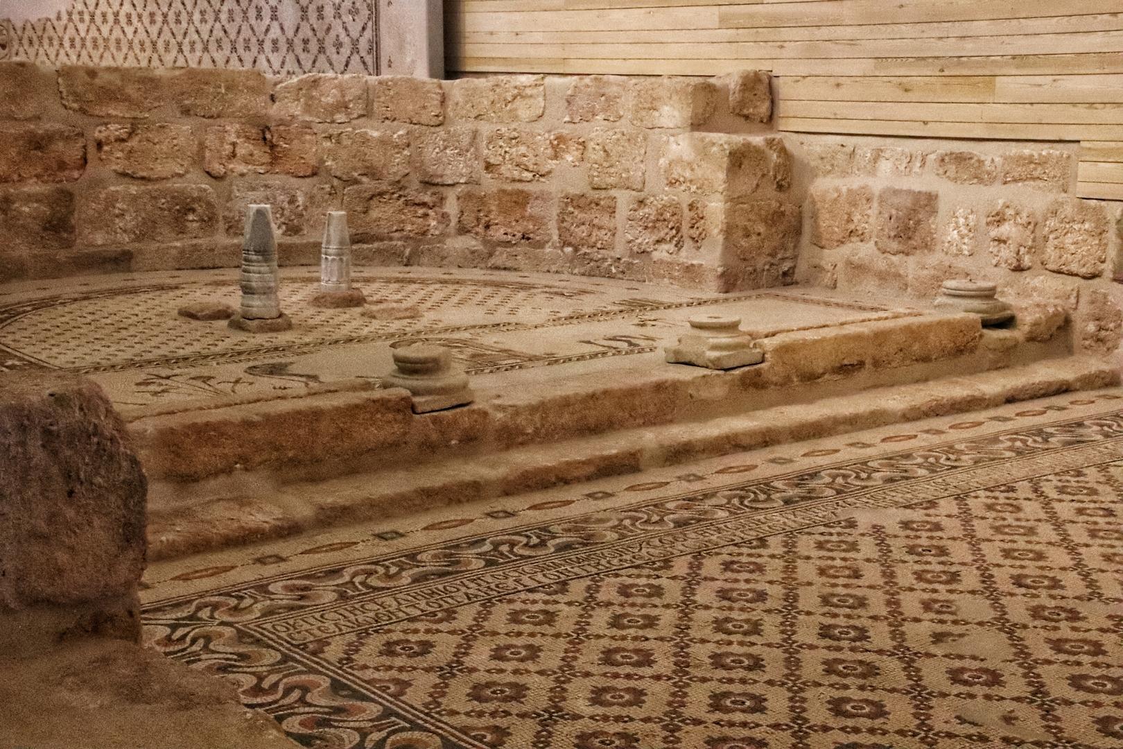 Jordanie - Mosaiques dans l'église du Mont Nebo