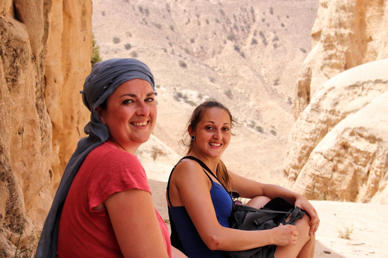 Jordanie - Pause thé pendant la randonnée dans la réserve de Dana