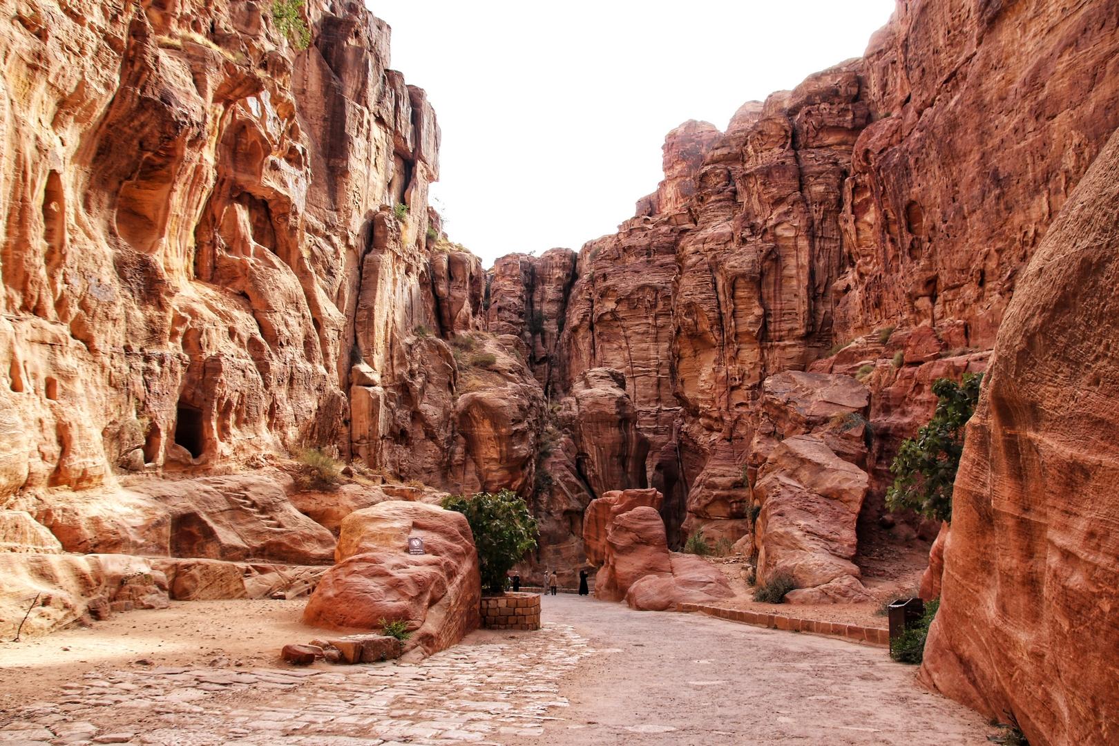 Jordanie - Siq qui mène au site de Petra