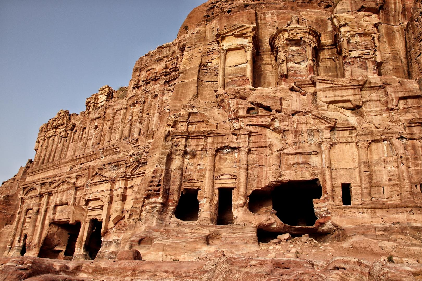 Jordanie - Tombeau palais et tombeau corinthien sur le site de Petra