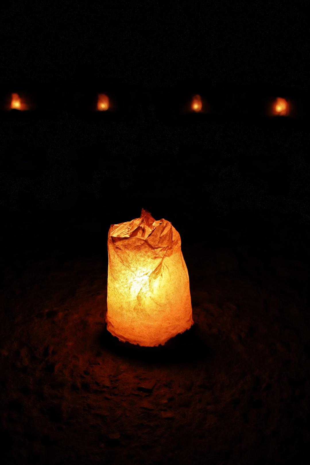 Jordanie - Spectacle Petra by night, éclairé aux chandelles