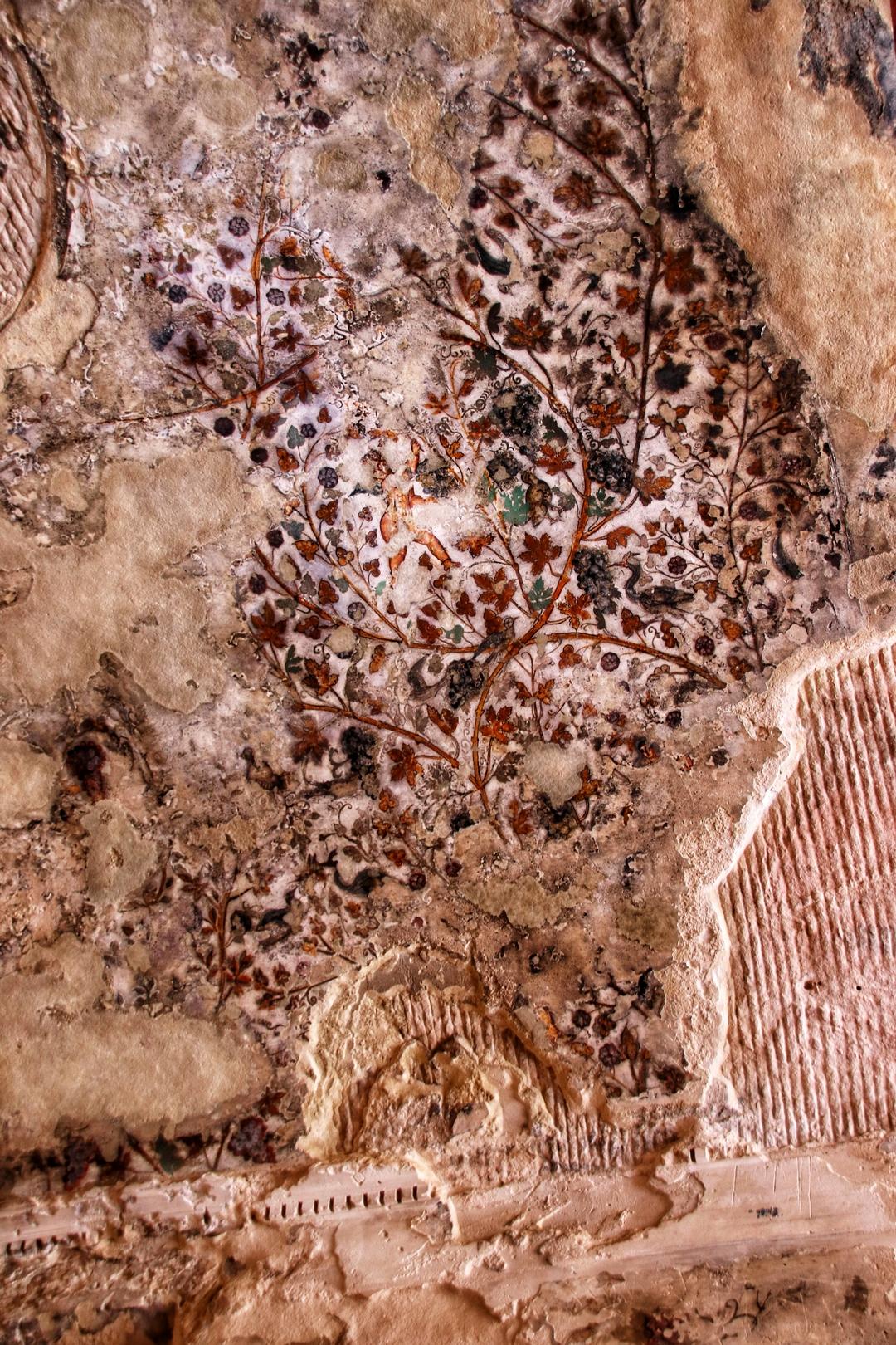 Jordanie - Uniques fresques sur le site de Little Petra