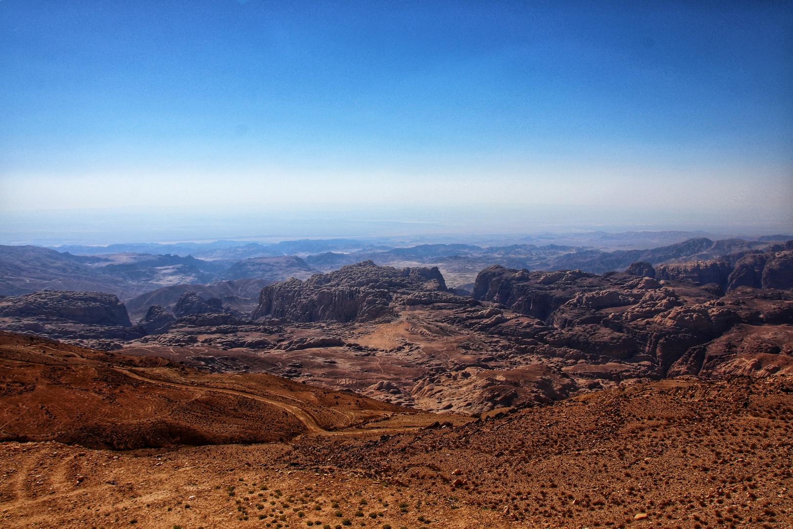 Jordanie - Vue du haut de Little Petra