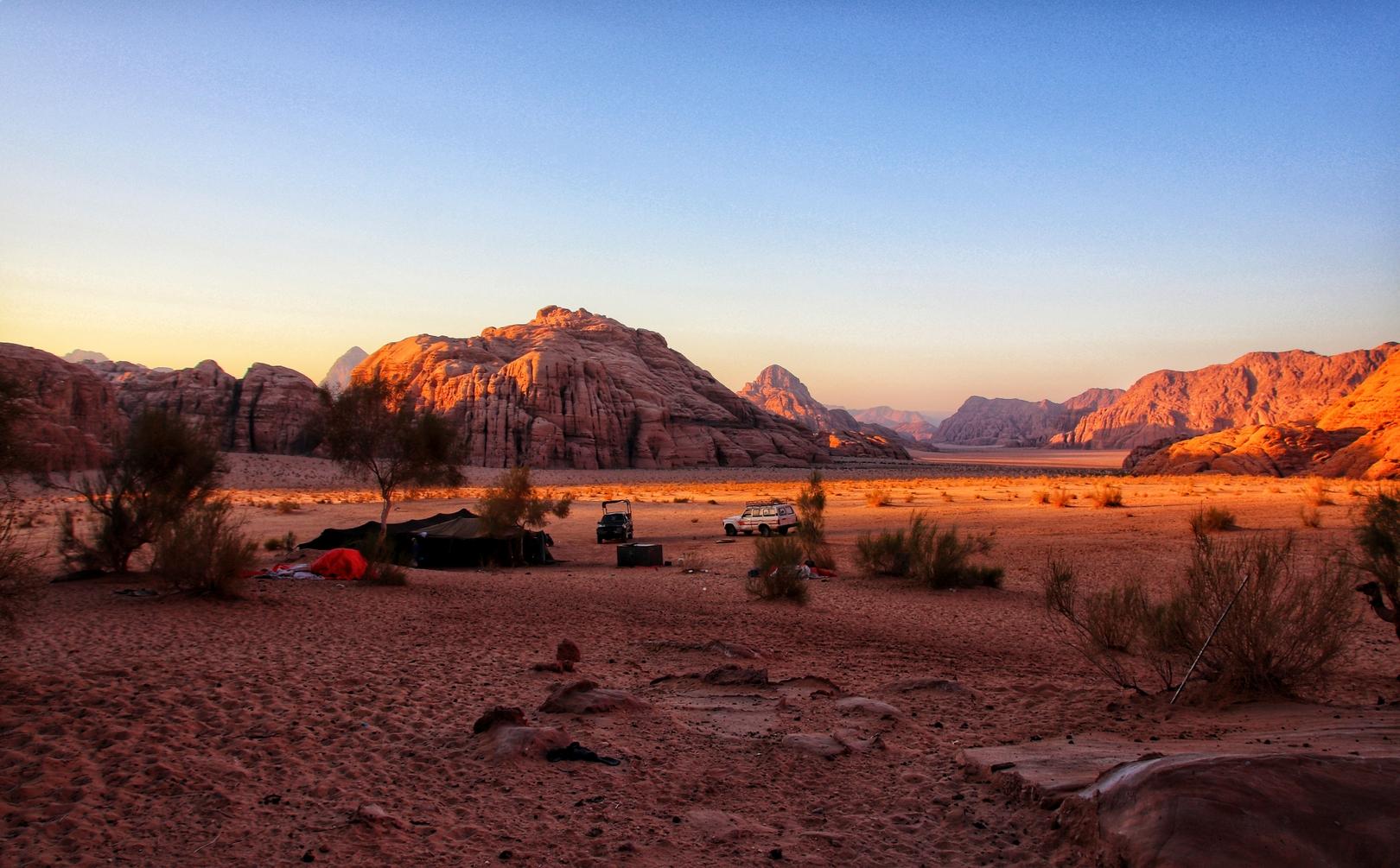Jordanie - Soirée et nuit dans un campement bédouin dans le désert de Wadi Rum