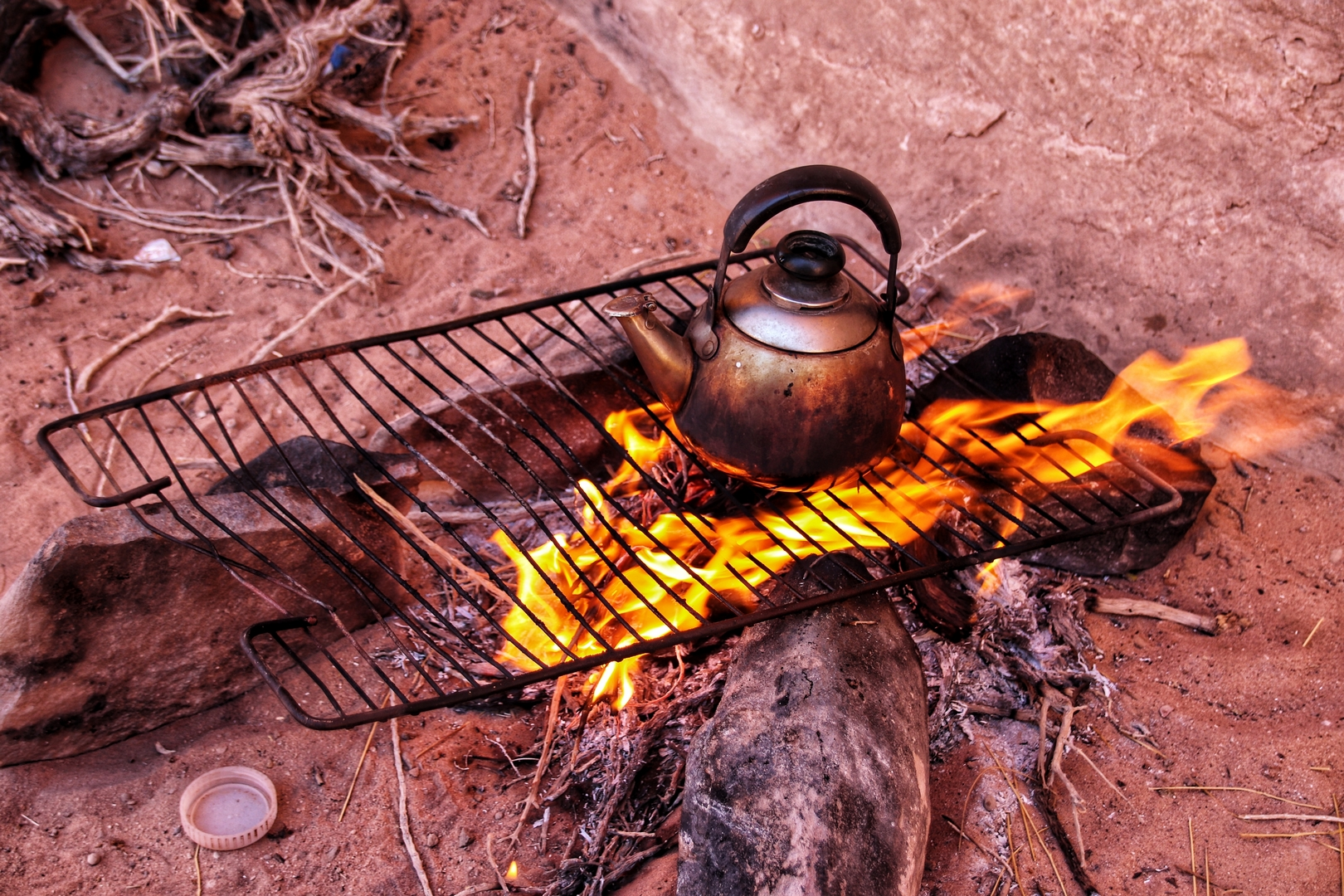 Jordanie - Pique-nique dans le désert de Wadi Rum