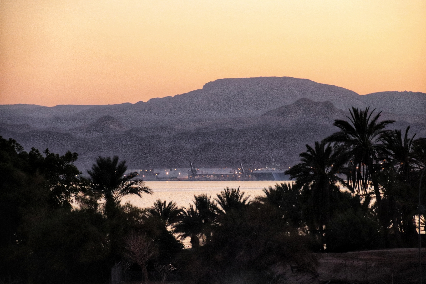 Jordanie - Coucher de soleil sur Aqaba