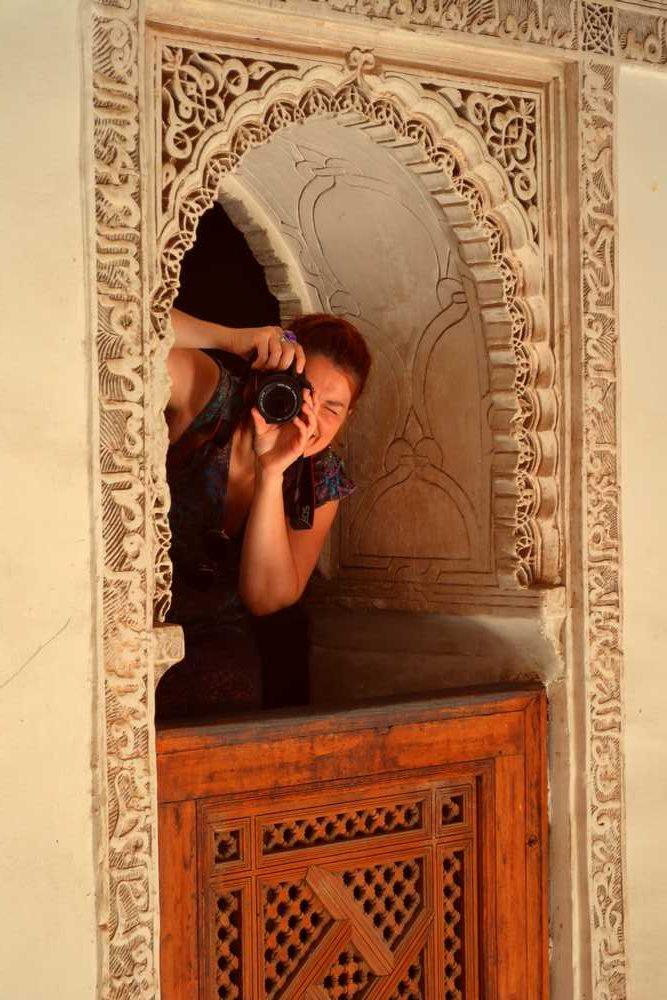 Maroc - Fenêtre de la medersa Ben Youssef à Marrakech