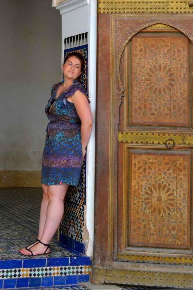 Maroc - Porte du Palais Bahia à Marrakech