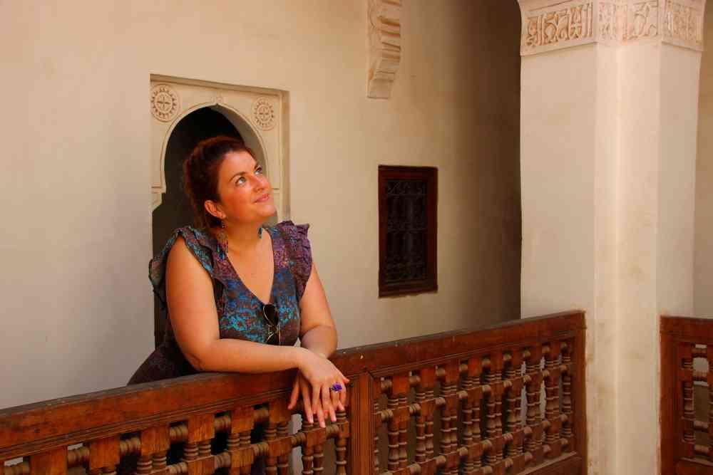 Maroc - Visite des chambres de l'internat de la medersa Ben Youssef à Marrakech