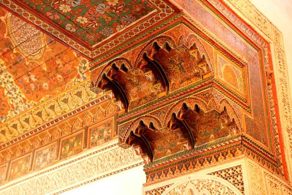 Maroc - Bois sculpté du Palais Bahia à Marrakech