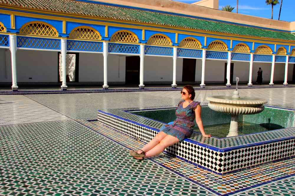 Maroc - Place centrale du Palais Bahia à Marrakech