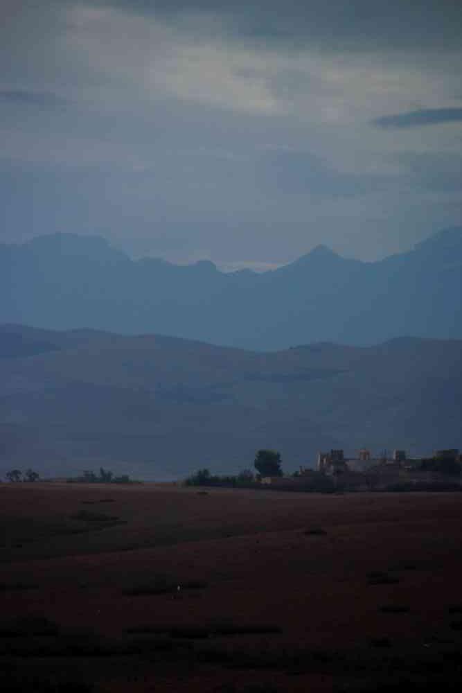 Maroc - Le désert d'Agafay au petit matin