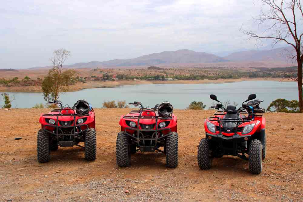 Maroc - Balade en quad au bord du lac Lalla Takerkoust