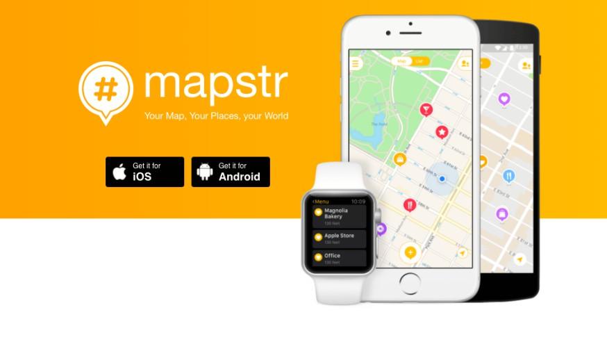 Téléchargement appli Mapstr