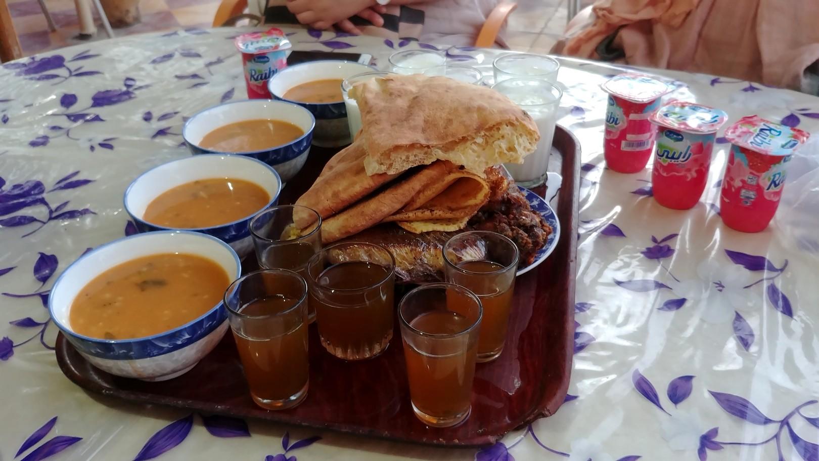 Maroc - Repas du ftour / rupture du jeûne, avec Mohamed