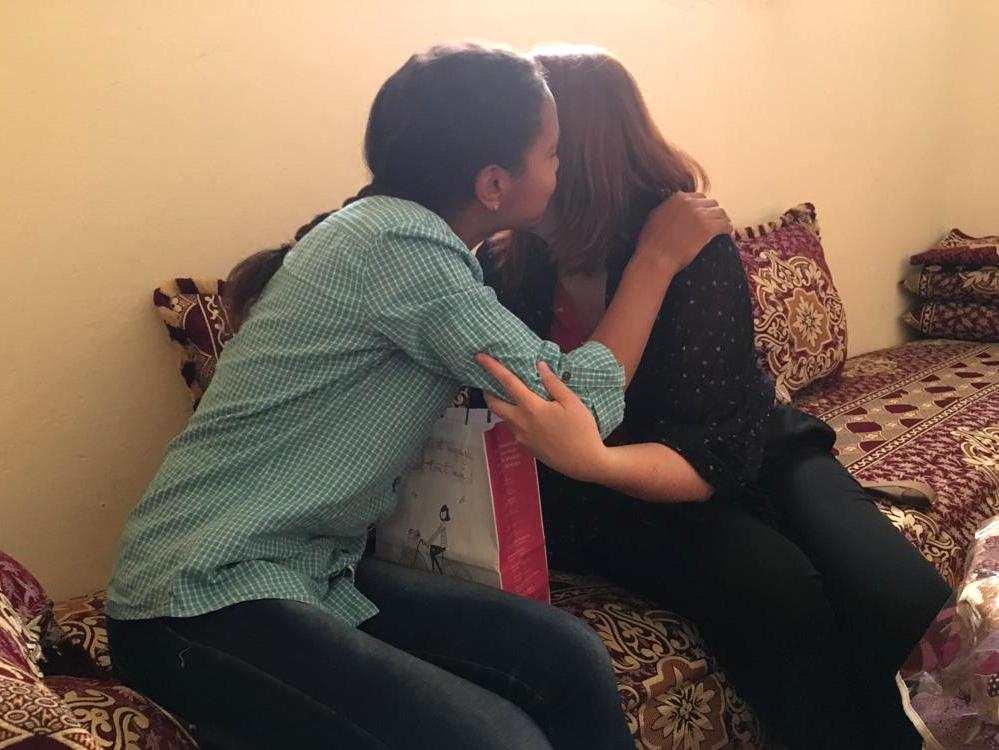 Maroc - Retrouvailles avec Chaimae, que nous marrainons, chez elle à Rissani