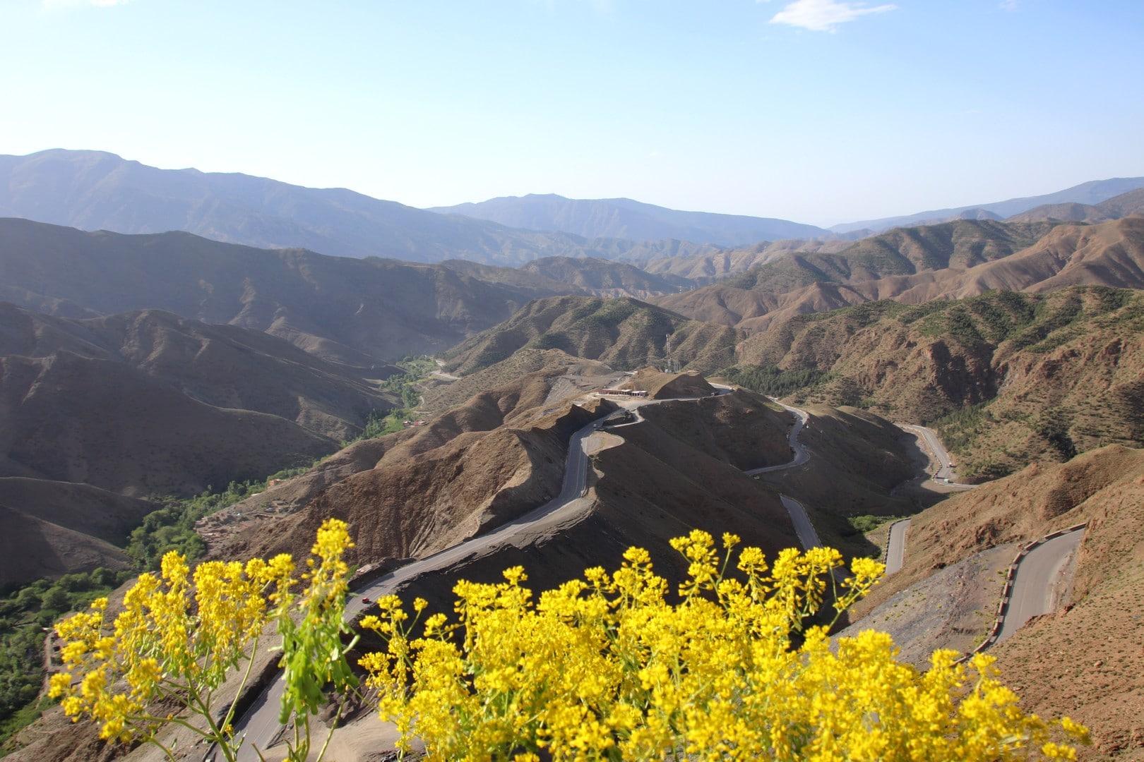 Maroc - Paysages sur la route du Tizi n Tichka