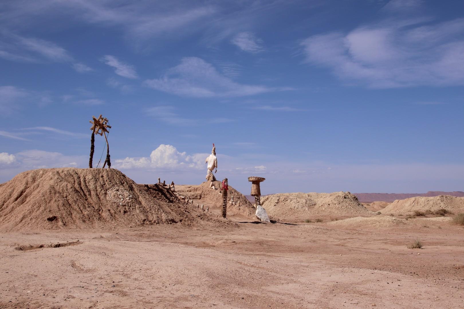 Maroc - Puits d'une khetarra (canaux d'irrigation souterrains)