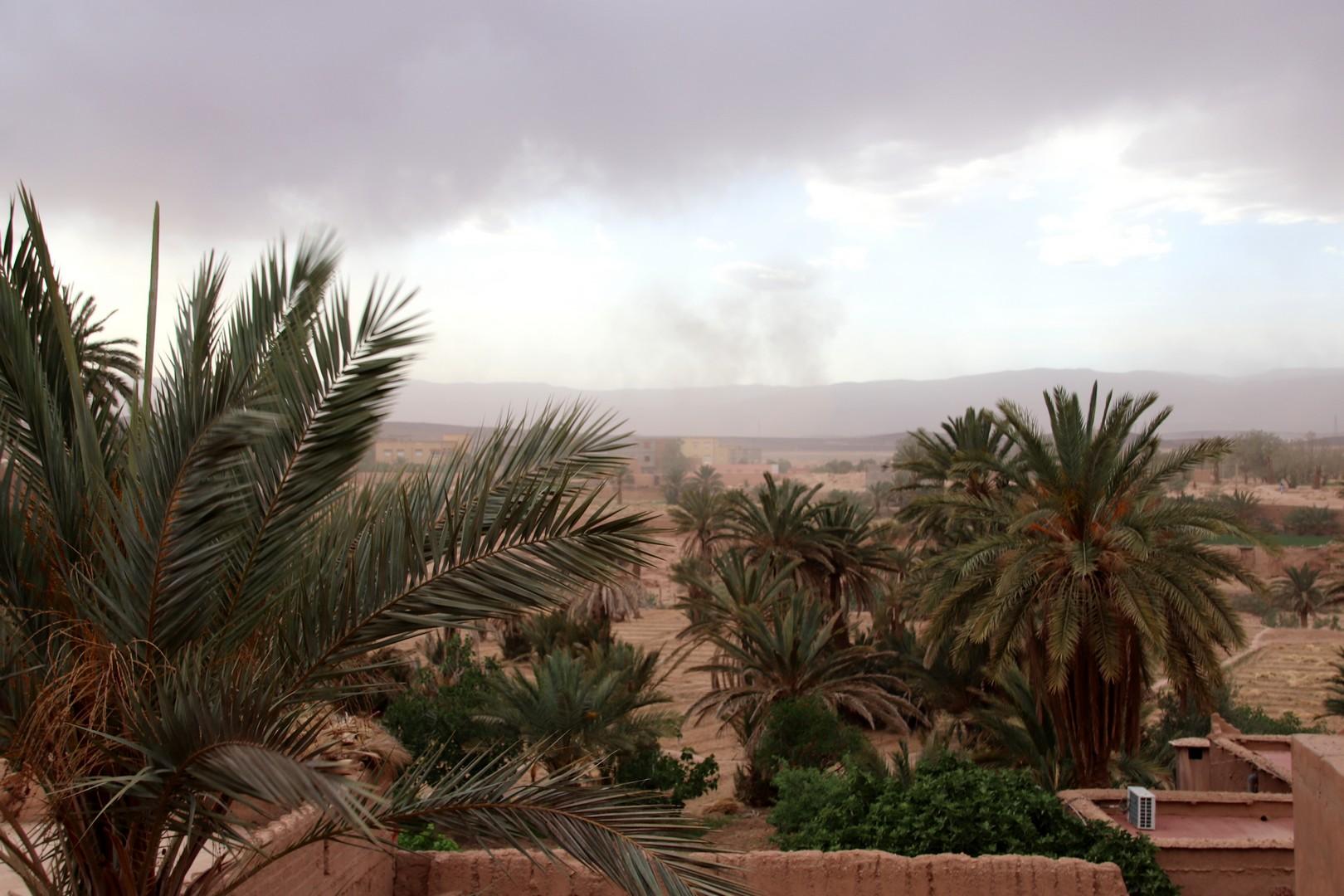 Maroc - Tempête de sable dans le désert