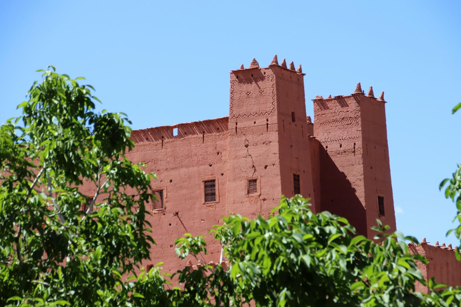 Maroc - Kasbah sur la route des roses