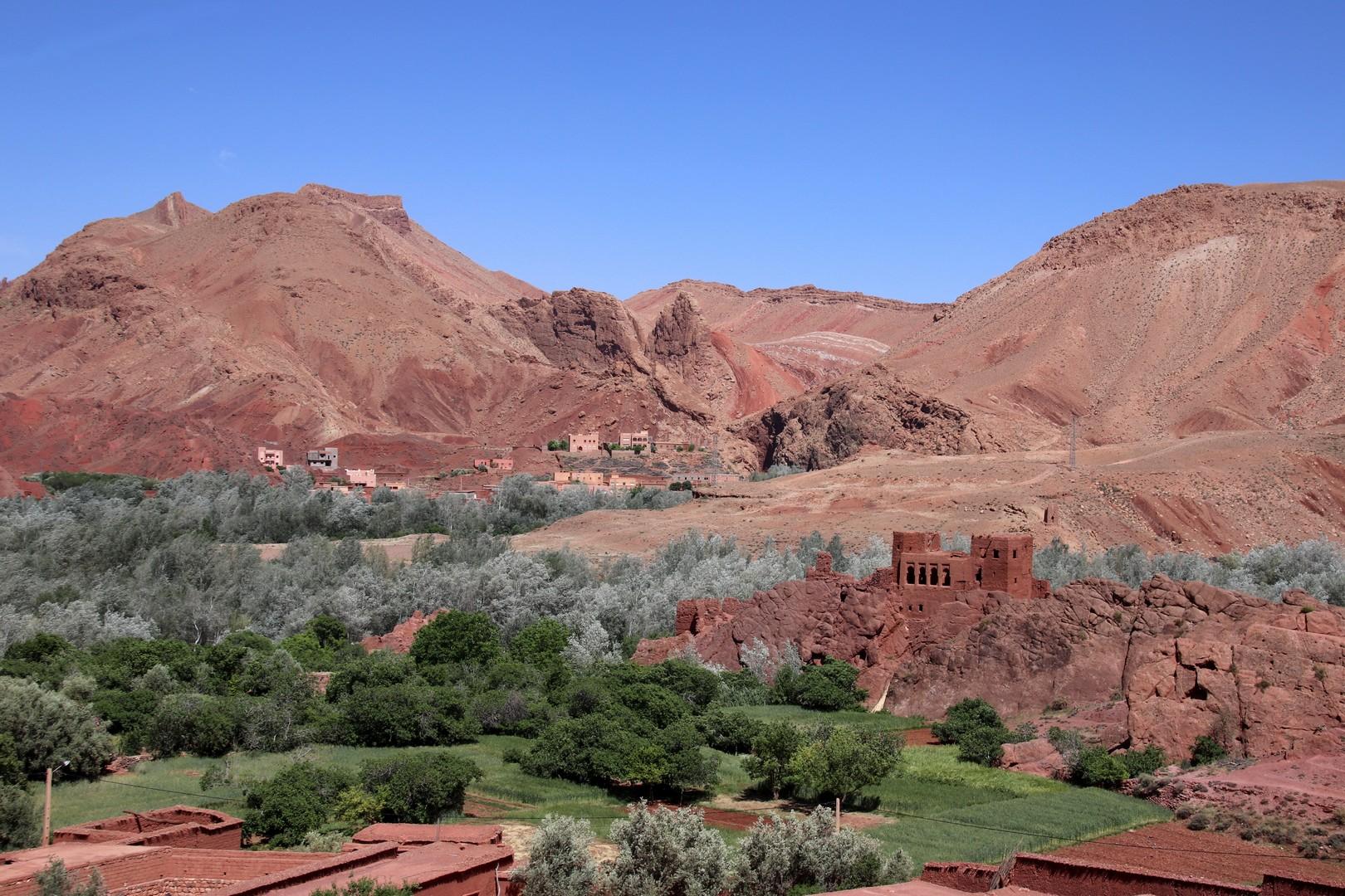Maroc - Kasbah abandonnée dans la vallée du Dadès