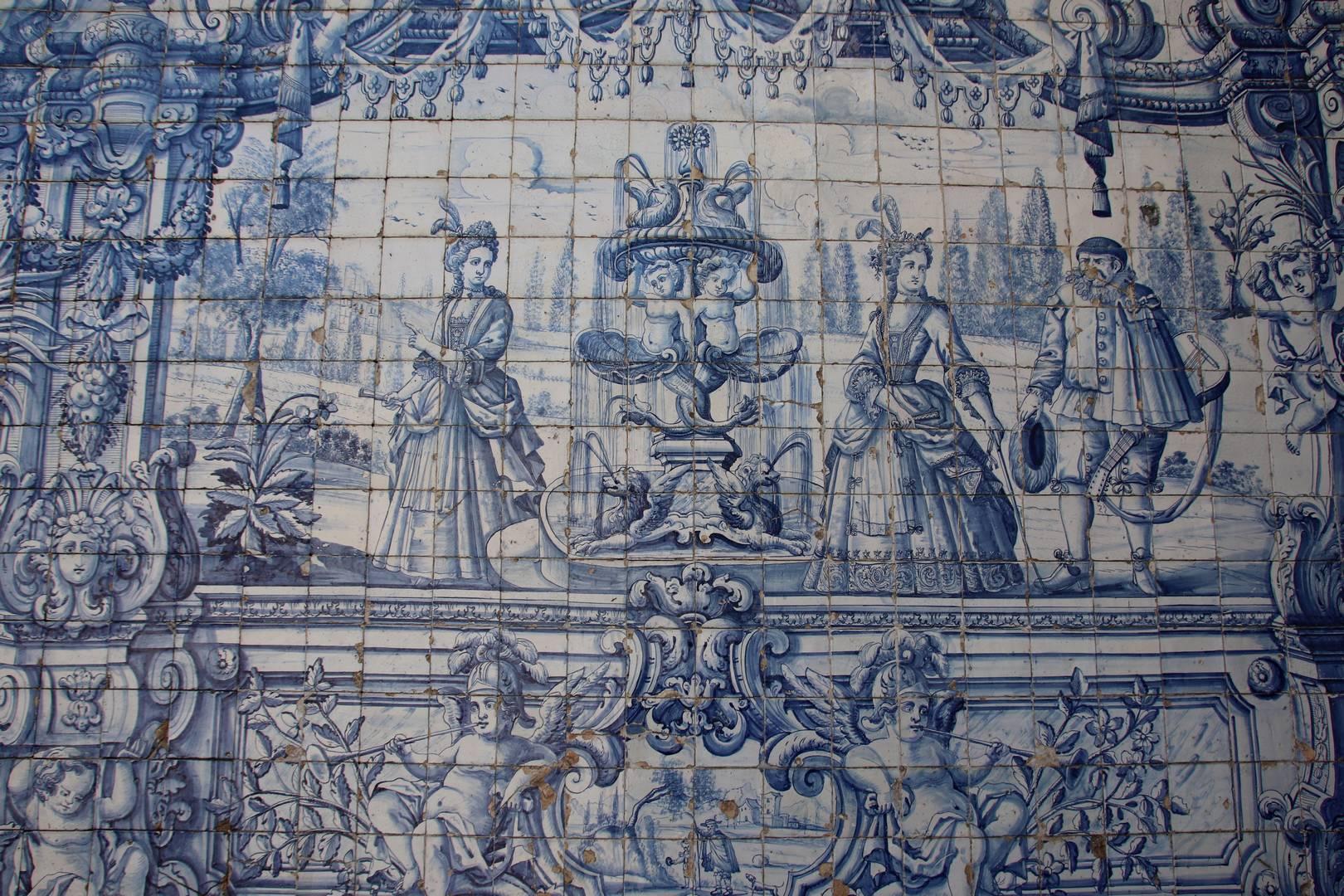 Portugal - Azulejos au claustro à Porto