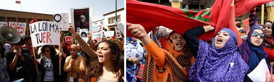 Maroc - Manifestations de femmes marocaines