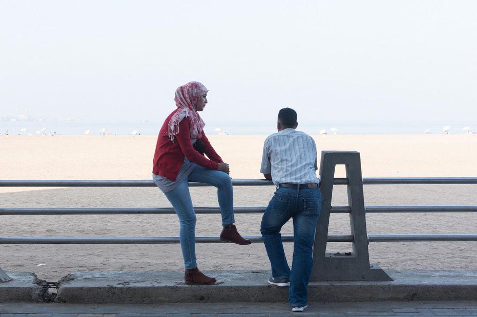 Maroc - Couple de jeunes amoureux