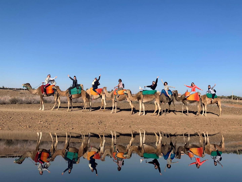 Maroc - Balade à dos de dromadaire dans la vallée d'Imlil