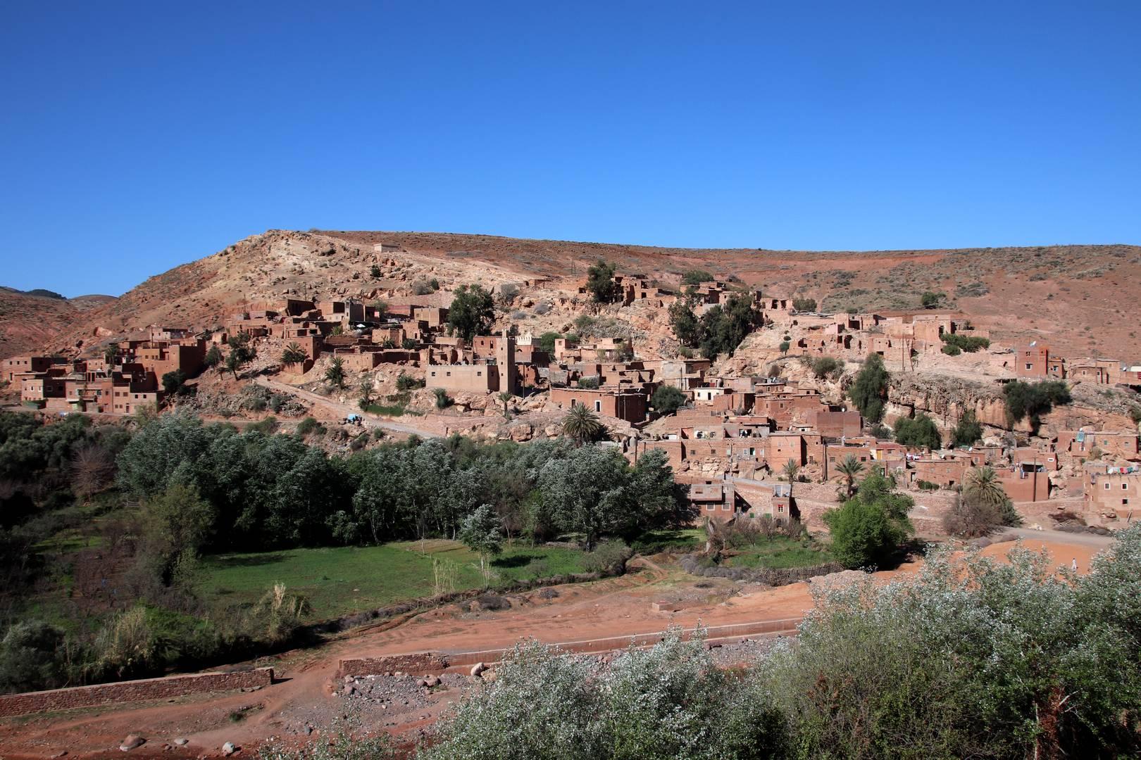 Maroc - Village dans la vallée d'Imlil
