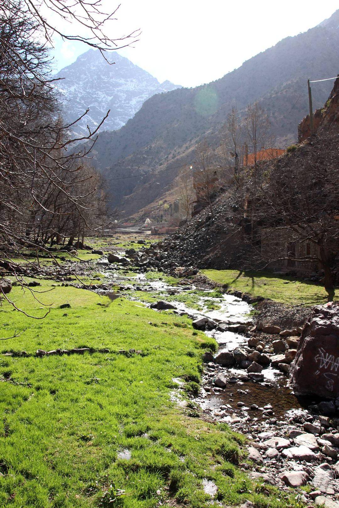 Maroc - Ruisseau dans la vallée d'Imlil