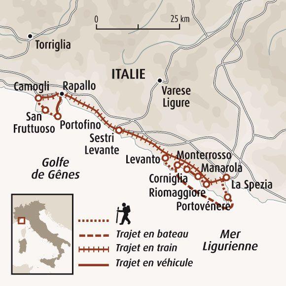 Carte du parc des Cinque Terre