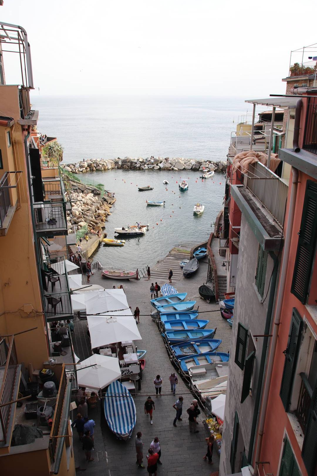Italie - Petit port du village de Riomaggiore au parc des Cinque Terre