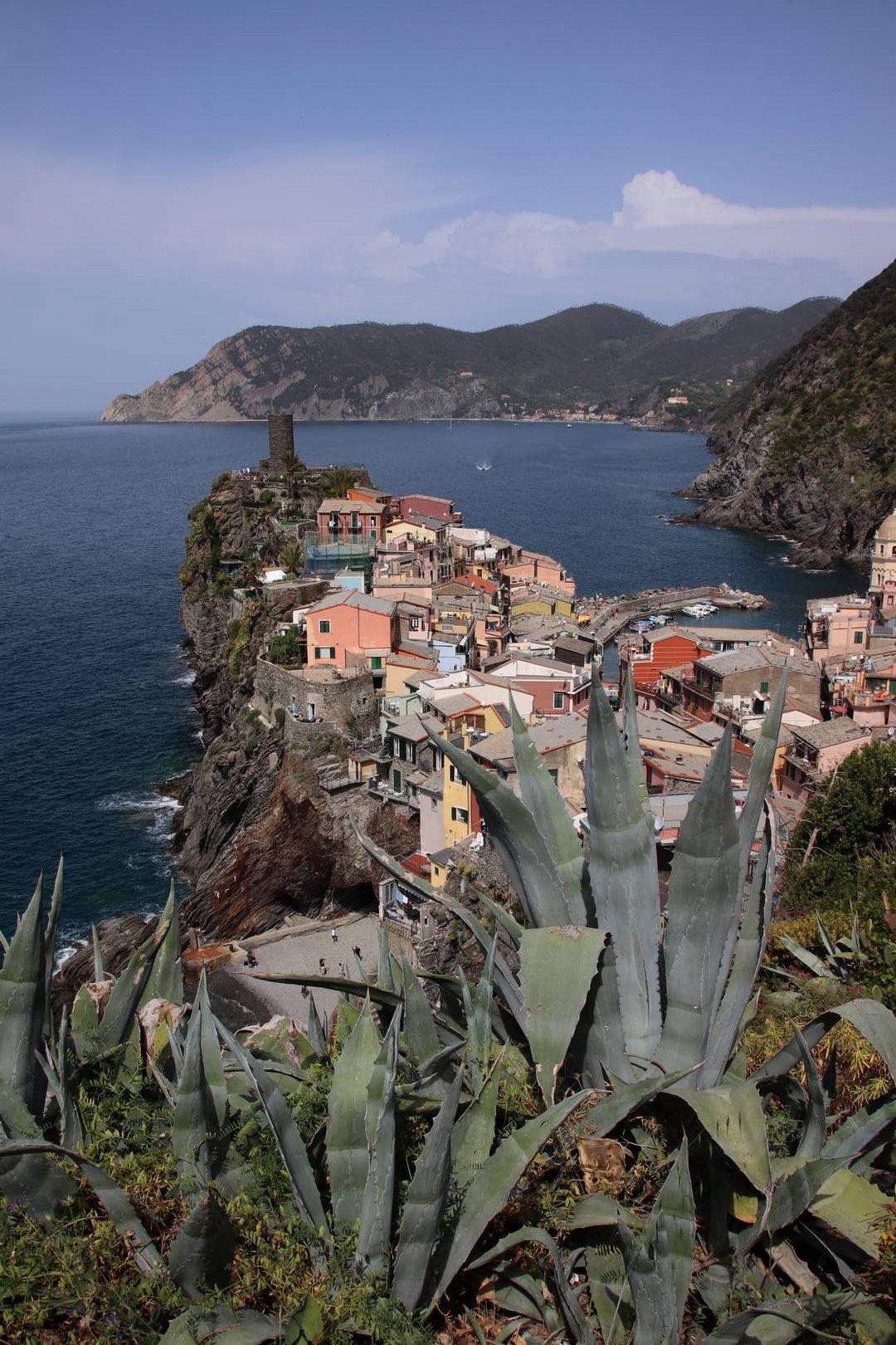 Italie - Village de Vernazza, parc des cinque terre