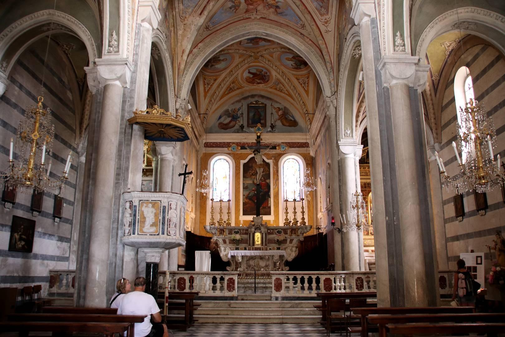 Italie - Eglise de Corniglia, parc des cinque terre