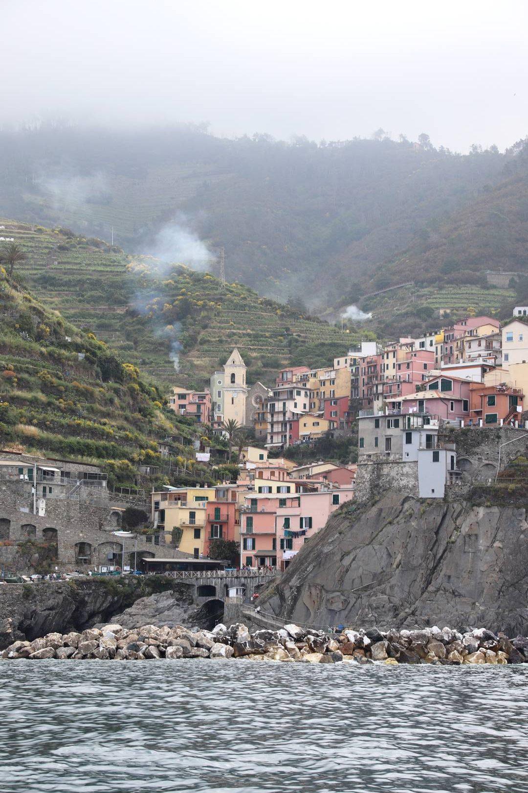 Italie - Village de Manarola, parc des cinque terre